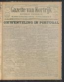 Gazette Van Kortrijk 1910-10-09 p1