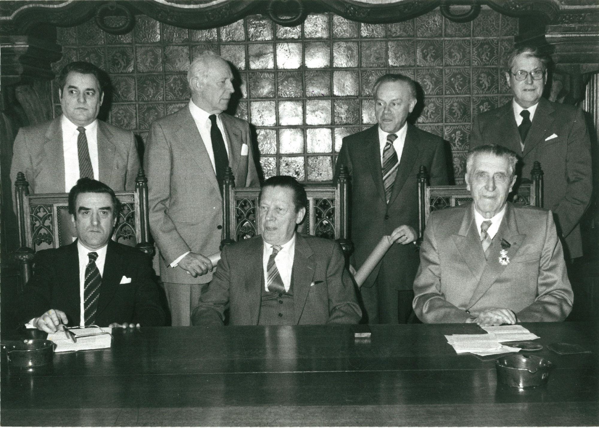 Groepsfoto Museumkommissie 1981