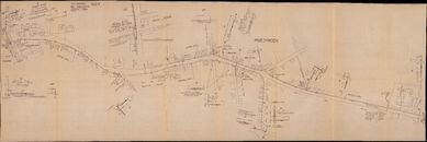 Plannen van de aanleg van het telefoonnet te Aalbeke, 1960-1972