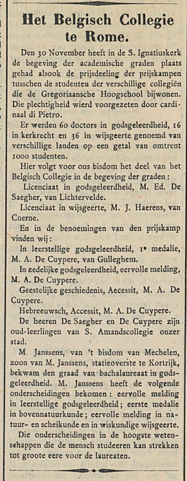 Het Belgisch Collegie