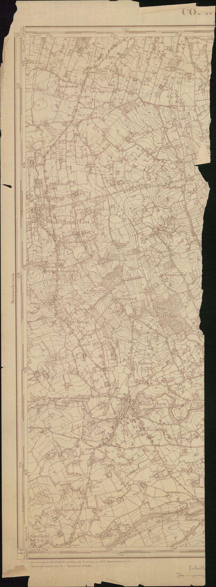 Topografische kaart van Kortrijk, 20ste eeuw