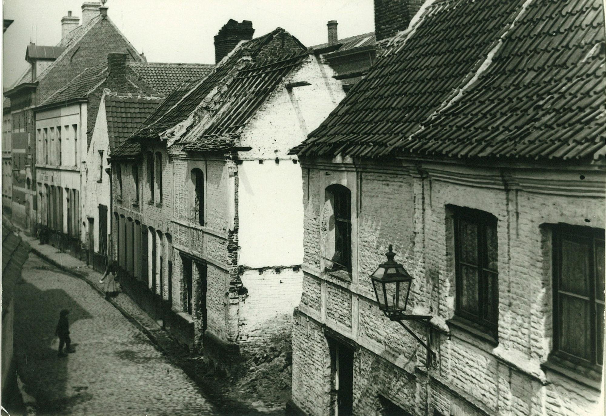Oude huizen in de Kapelstraat (Overleie)