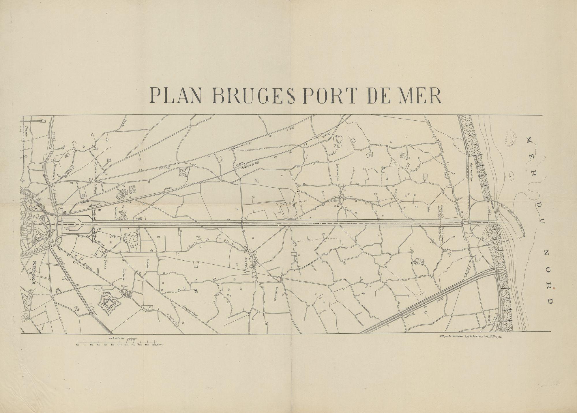 Westflandrica - Brugge, plan van de haven