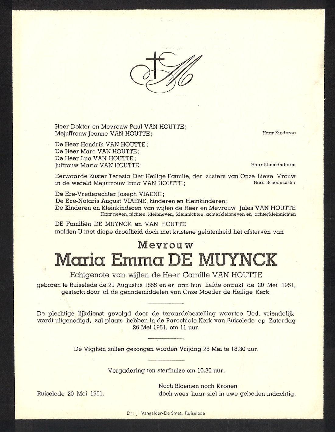 Maria Emma  Demuynck