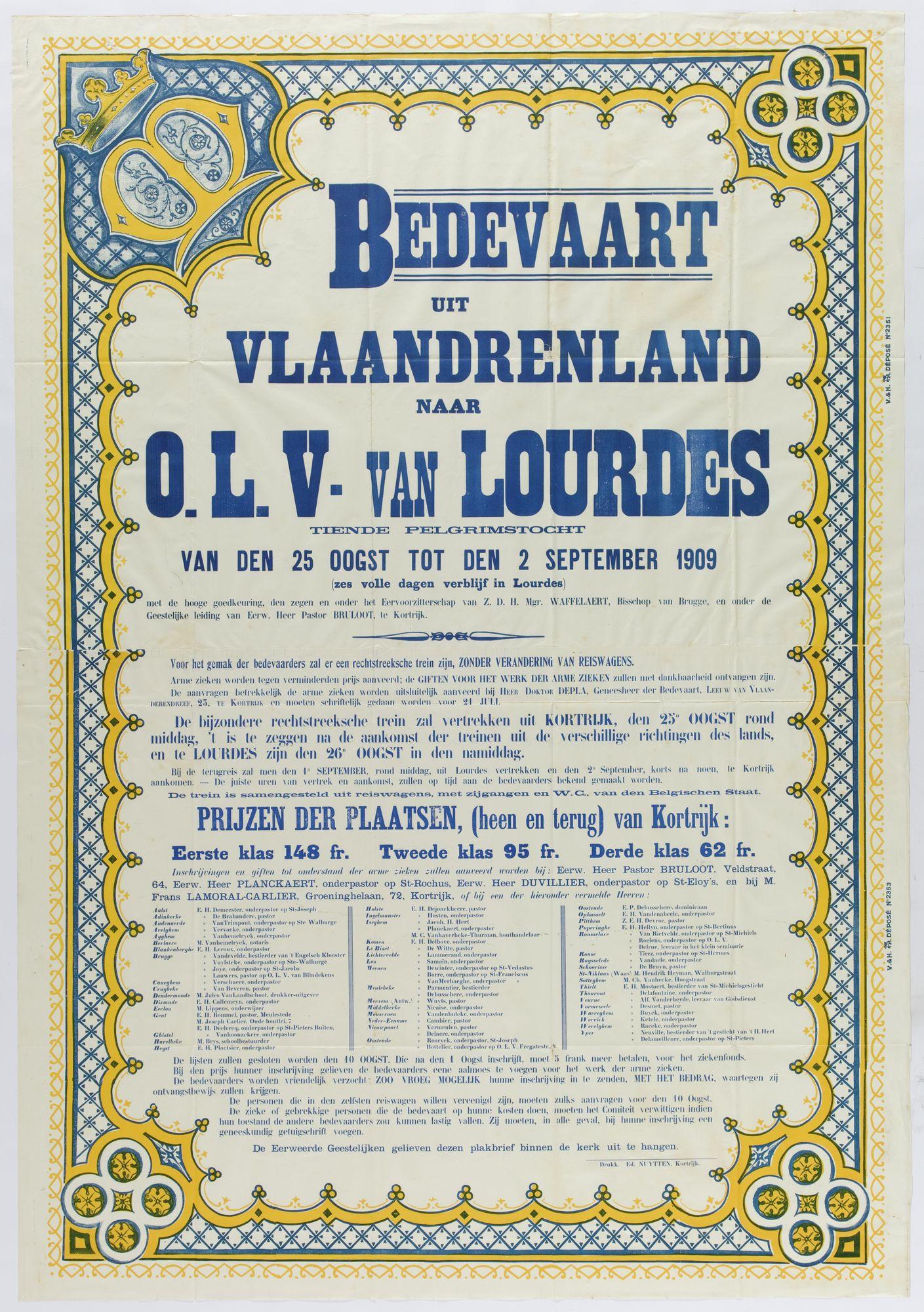 Bedevaart Lourdes 1909