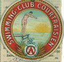 "Lidkaart Kortrijkse Zwemclub  ""Swimming Club Courtraisien""."