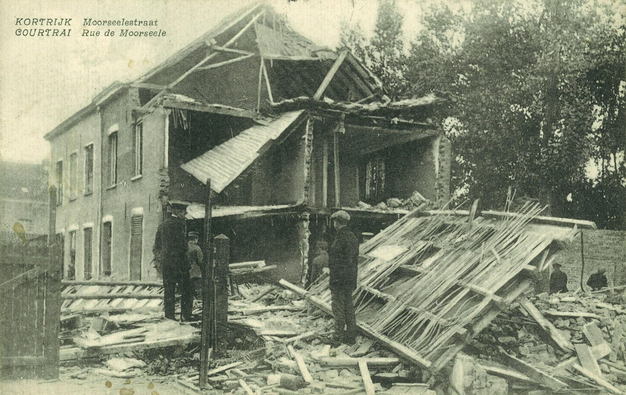 Moorseelsestraat in 1917