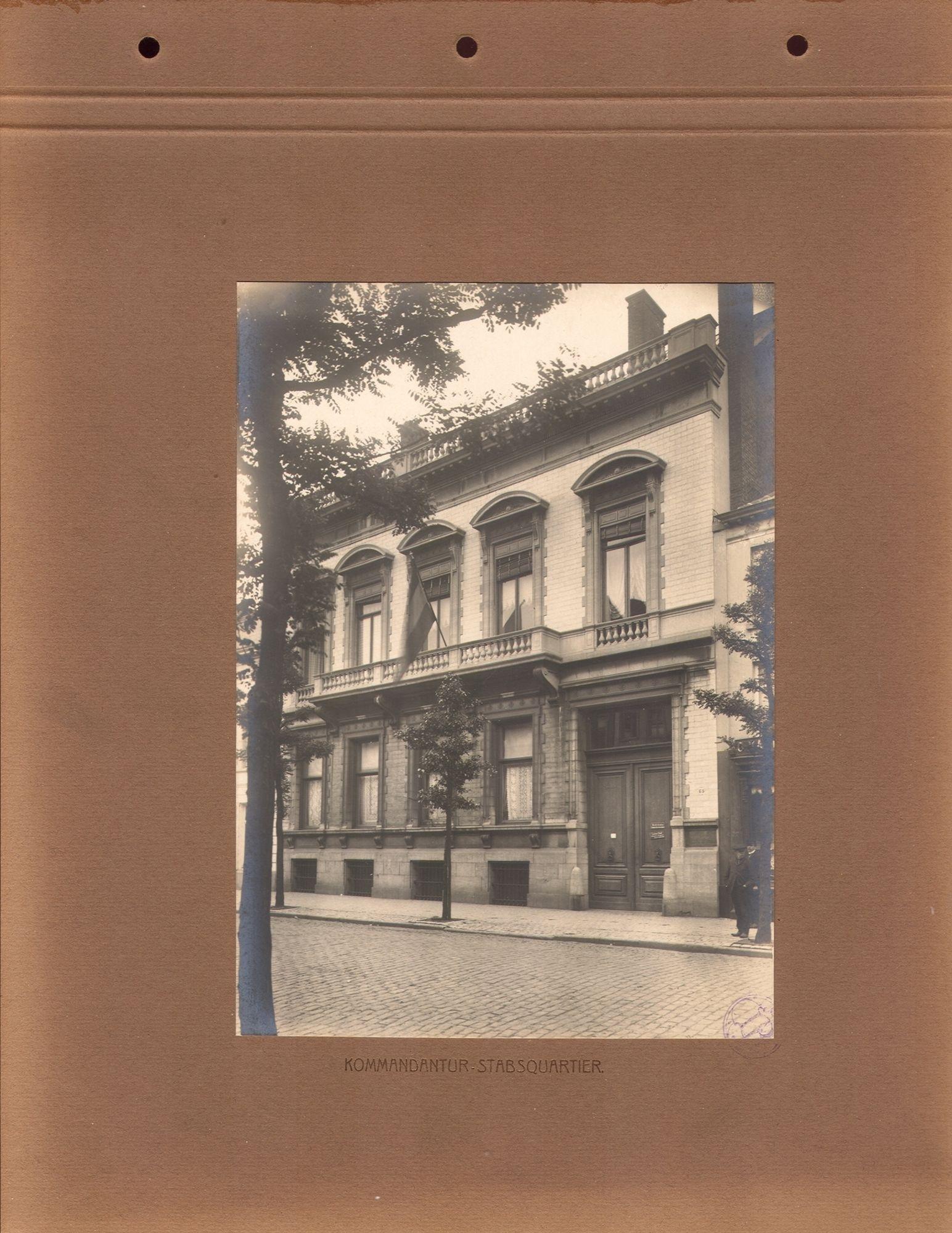 Het stafkwartier van de Duitse bezetter in Kortrijk tijdens de Eerste Wereldoorlog.