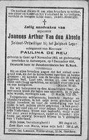 Van den Abeele Joannes-Arthur