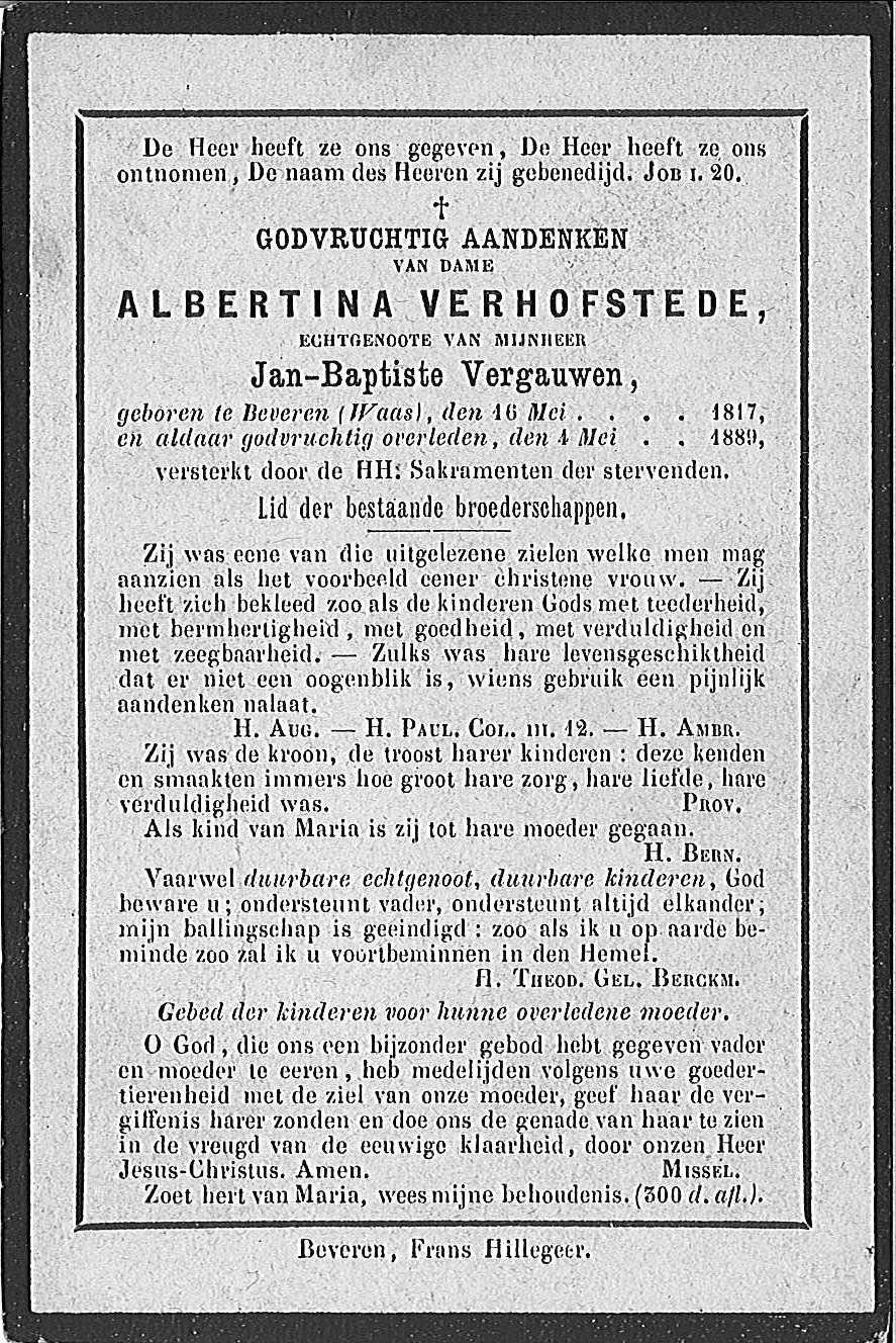 Albertina Verhofstede
