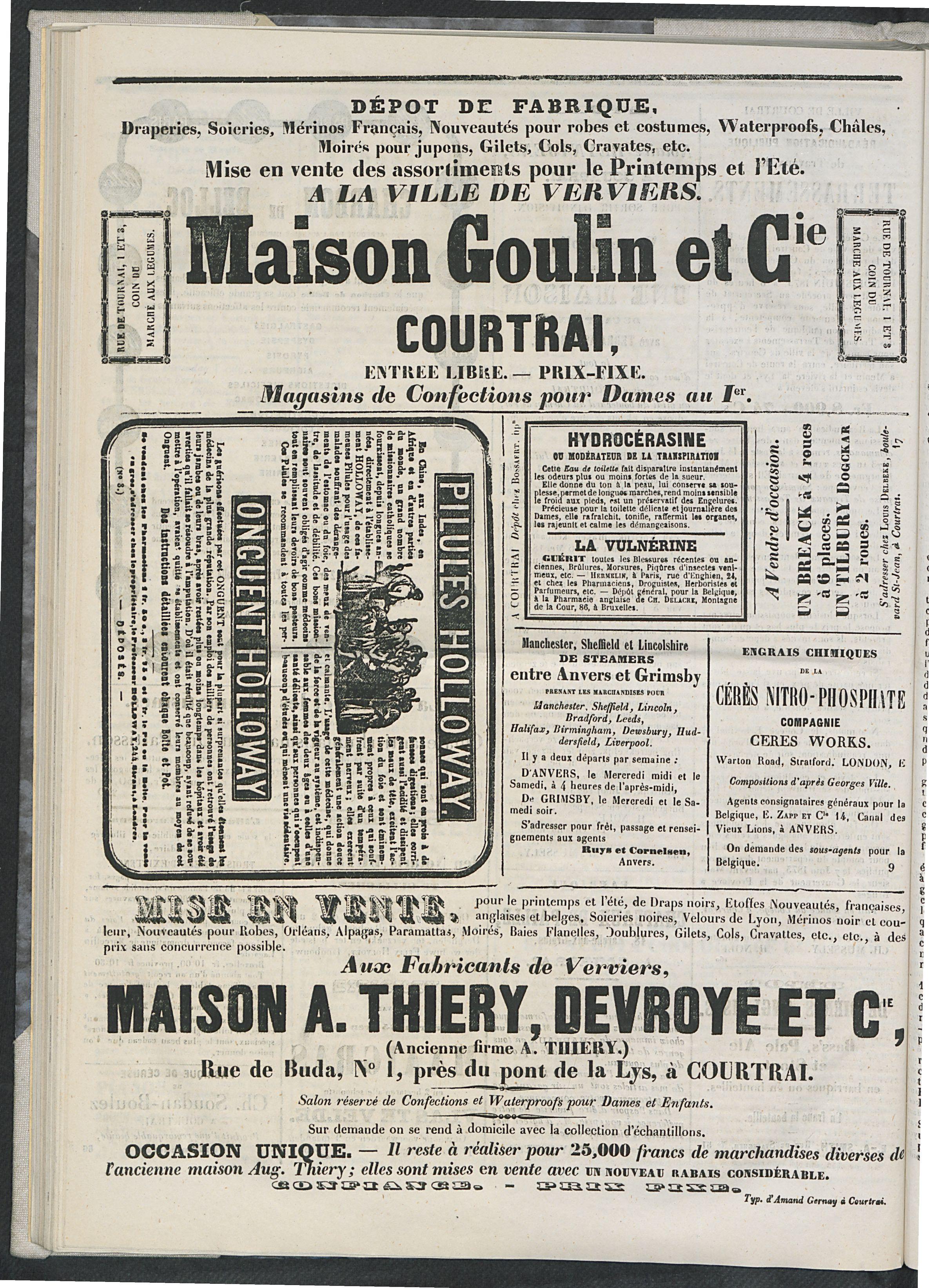 L'echo De Courtrai 1873-06-15 p6