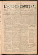 L'echo De Courtrai 1911-09-24 p1