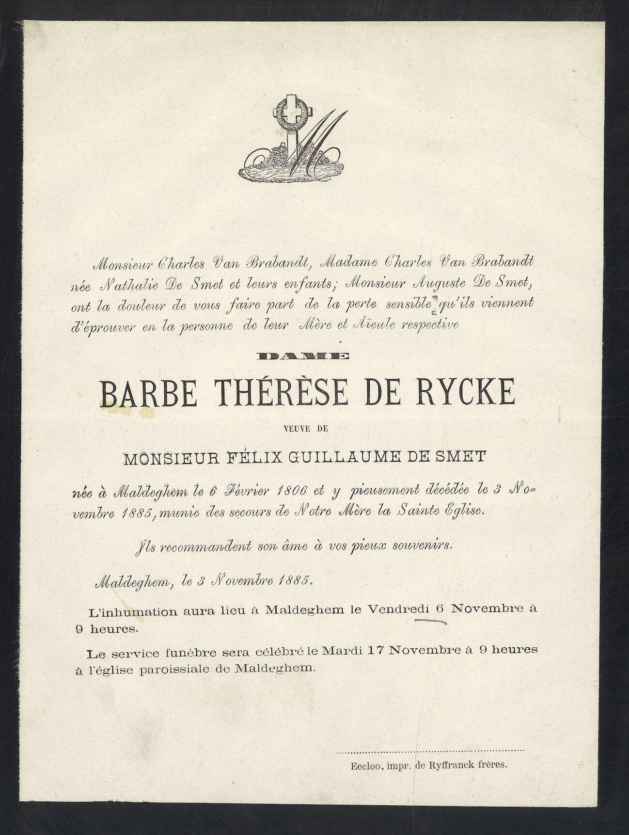 Barbe Thérèse De Rycke