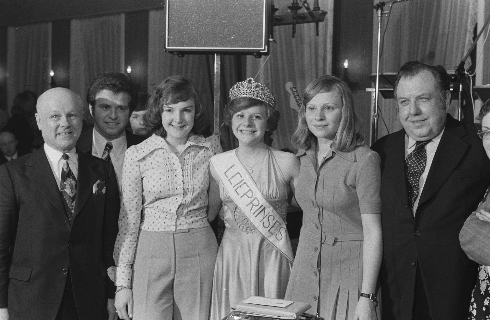 Verkiezing van de Leieprinses in Bissegem in 1974