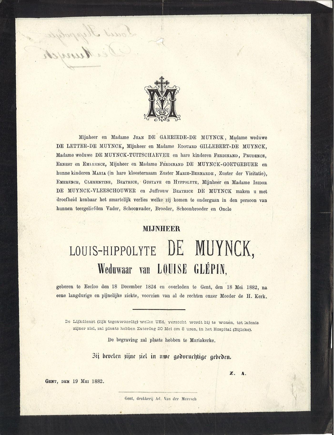 Louis-Hippolyte De Muynck