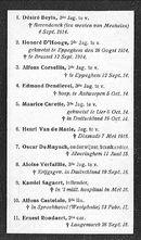 Herdenkingsbidprentje aan oorlogsslachtoffers 1914-1918