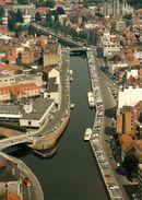 Luchtfoto Reepkaai, Dolfijnkaai en Kasteelkaai 1986