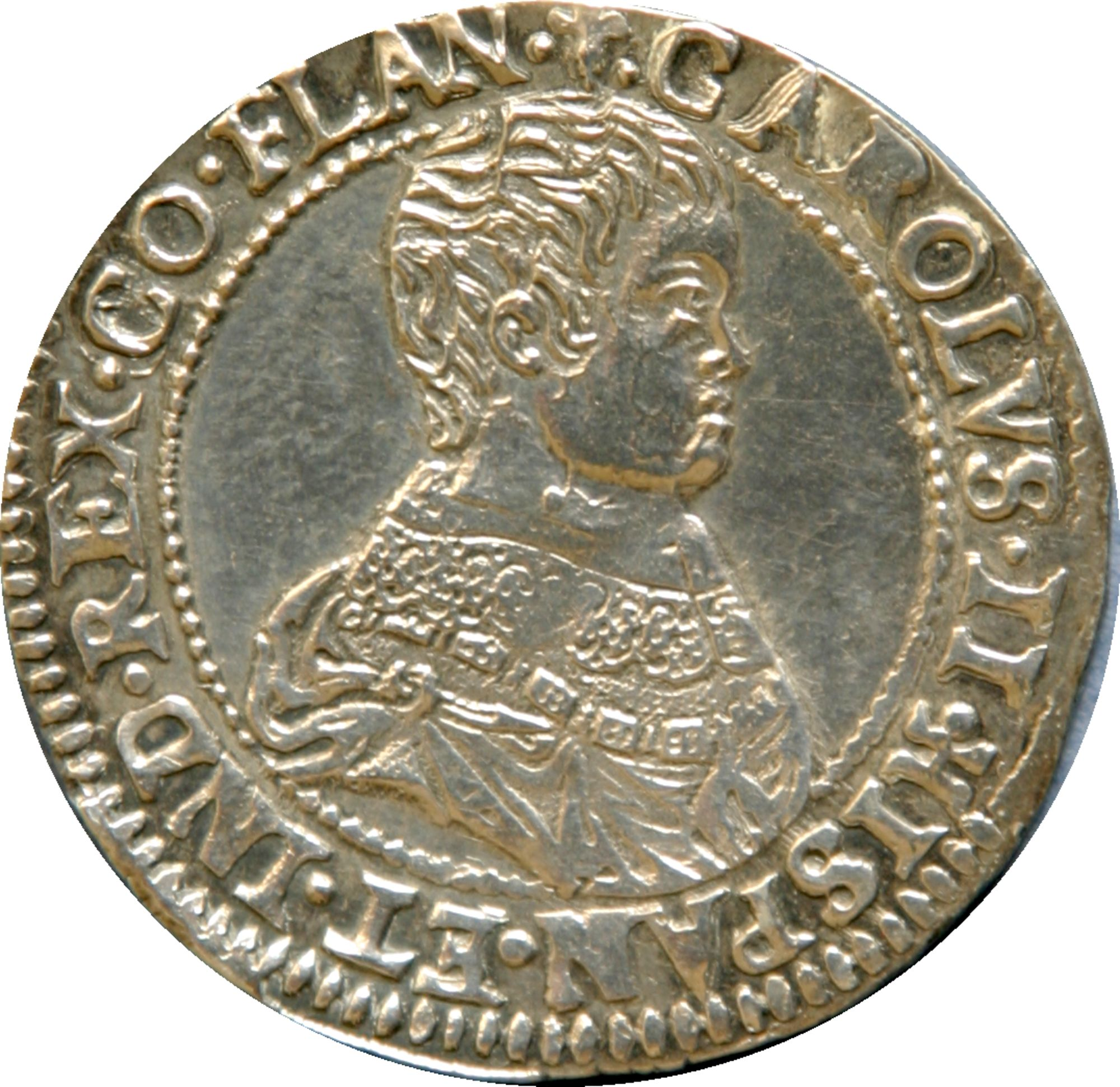 Jeton Karel II uit de zeventiende eeuw