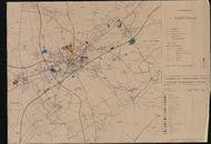 Kaart van de industrie- en ambachtelijke zones van het arrondissement Kortrijk, 2de helft 20ste eeuw