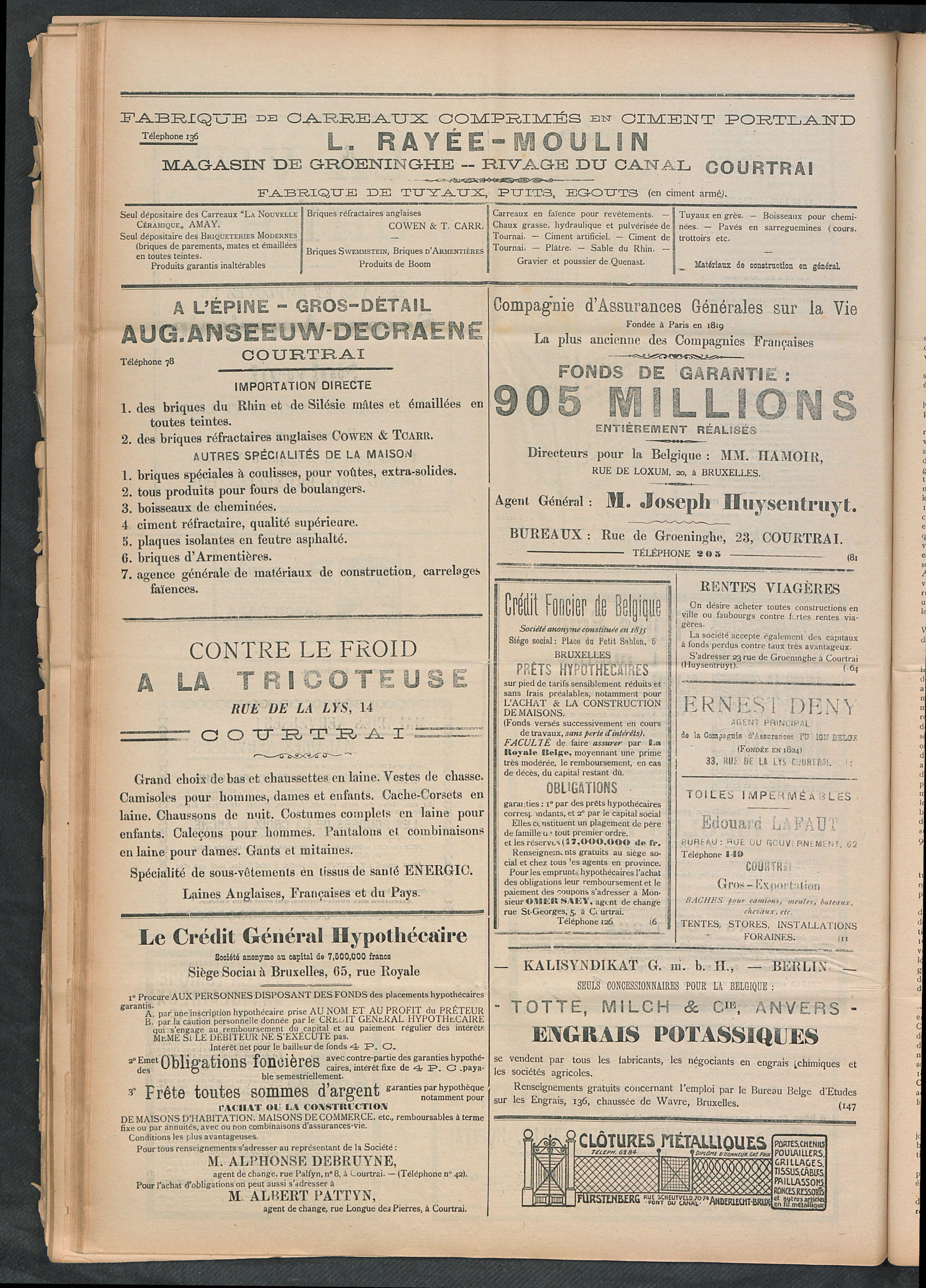 L'echo De Courtrai 1911-11-26 p6