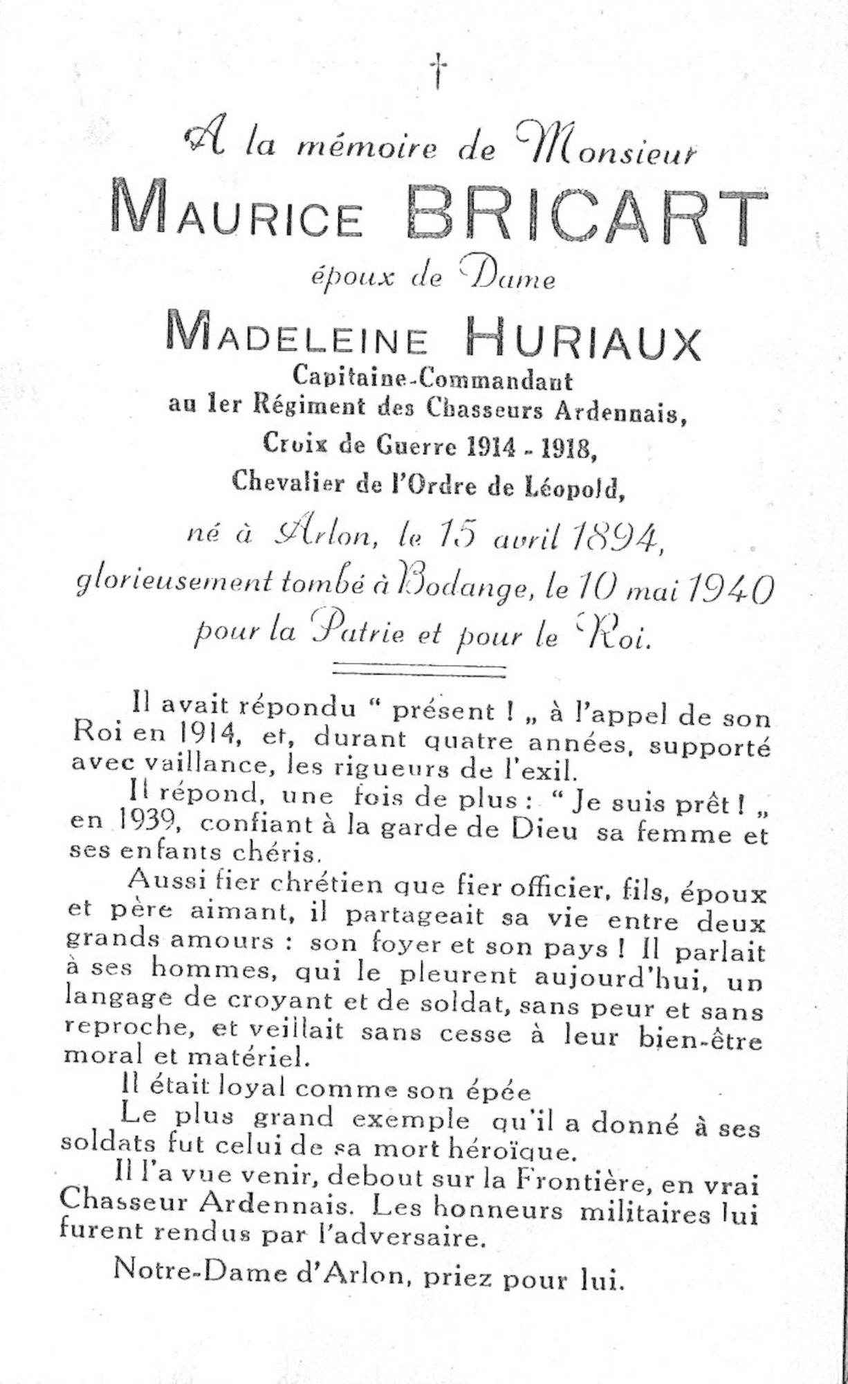 Bricart Maurice