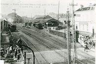 Station en spoorwegovergang te Kortrijk 1910