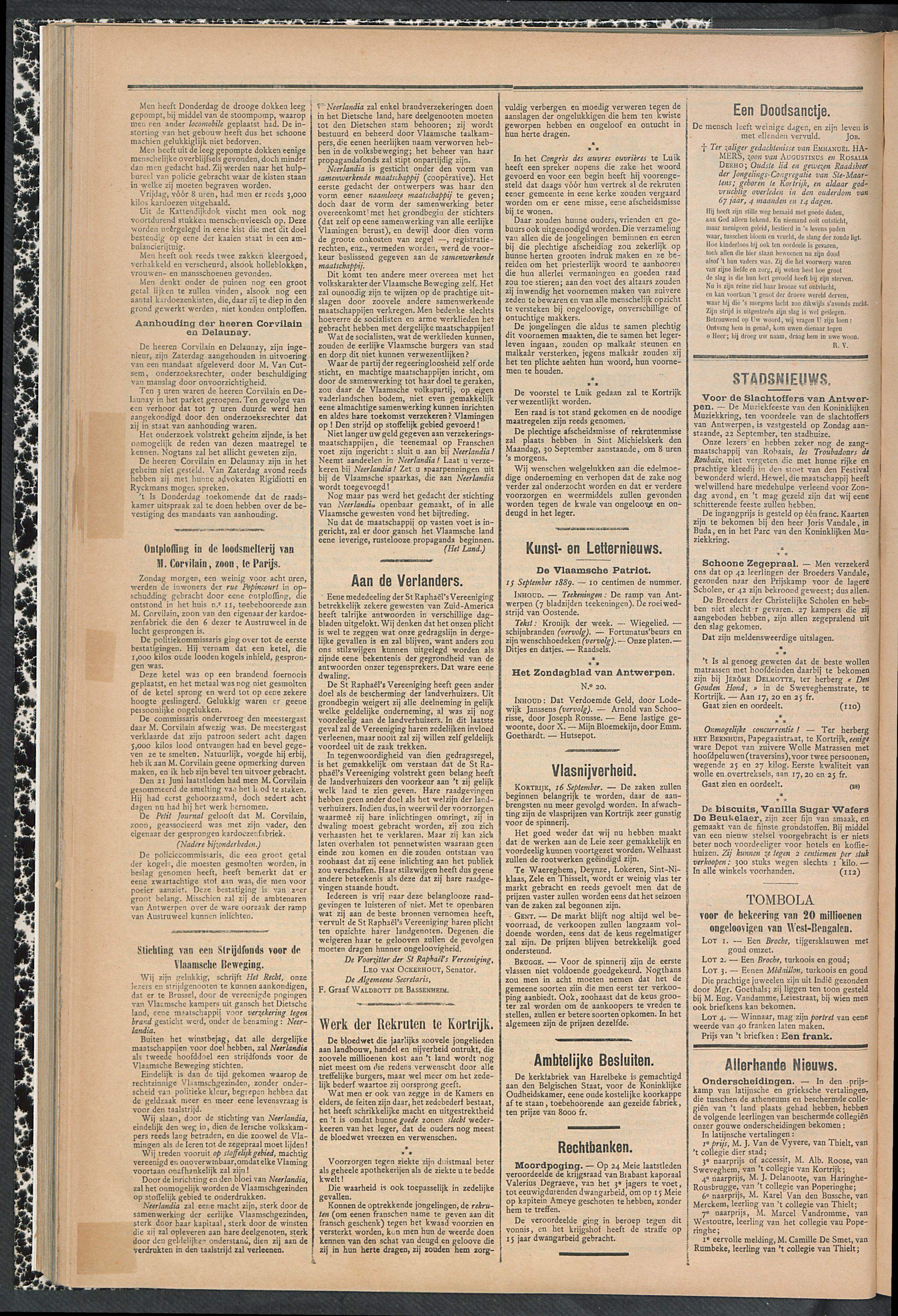 Gazette Van Kortrijk 1889-09-19 p2