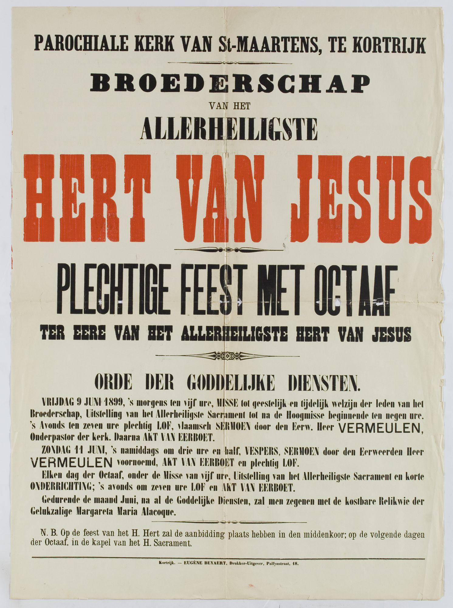 Plechtigheden Sint Maartenskerk 1899