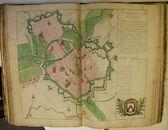 Plattegrond van de stad Kortrijk ca 1751