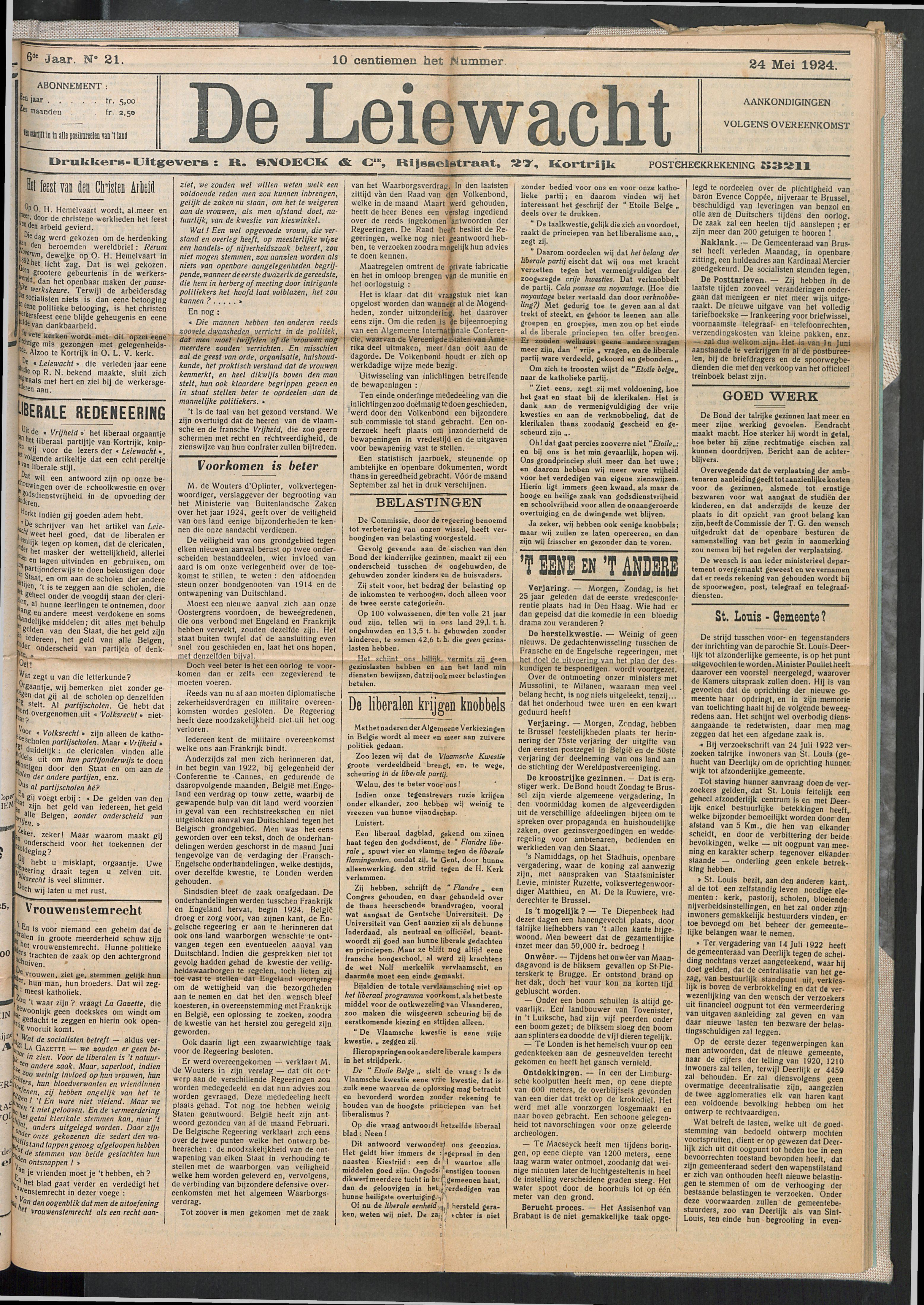 De Leiewacht 1924-05-24 p1