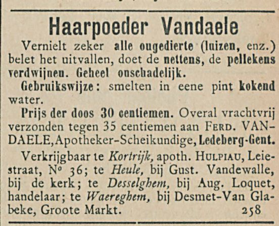 Haarpoeder Vandaele