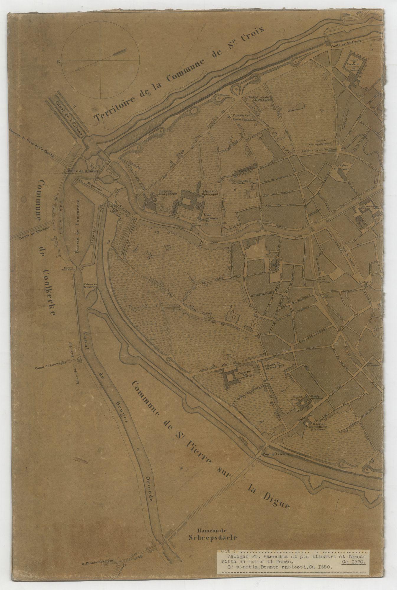 Westflandrica - plan van Brugge