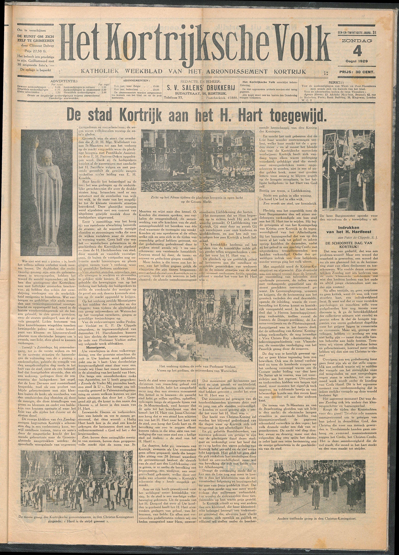 Het Kortrijksche Volk 1929-08-04 p1