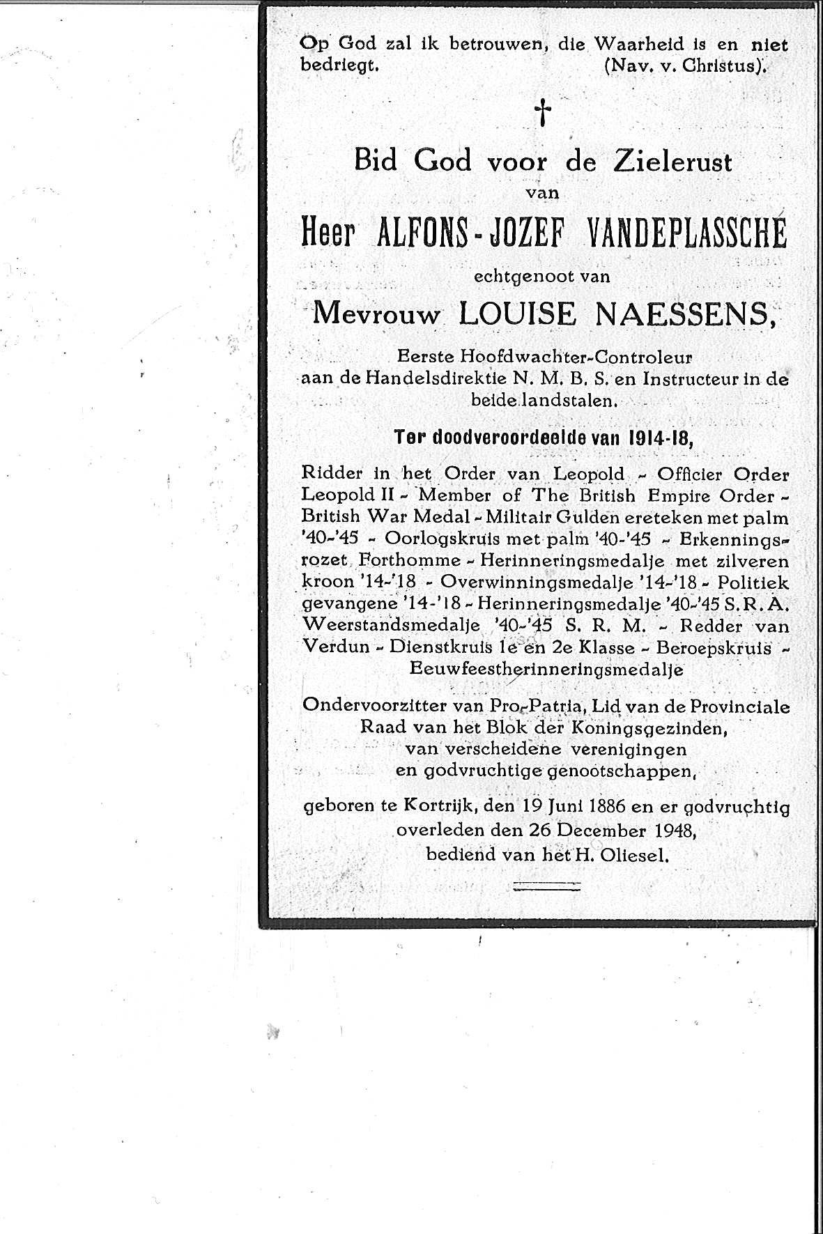 Vandeplassche Alfons-Jozef