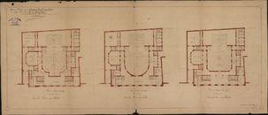 Bouwplannen van de stadsschouwburg te Kortrijk, 1907-1913