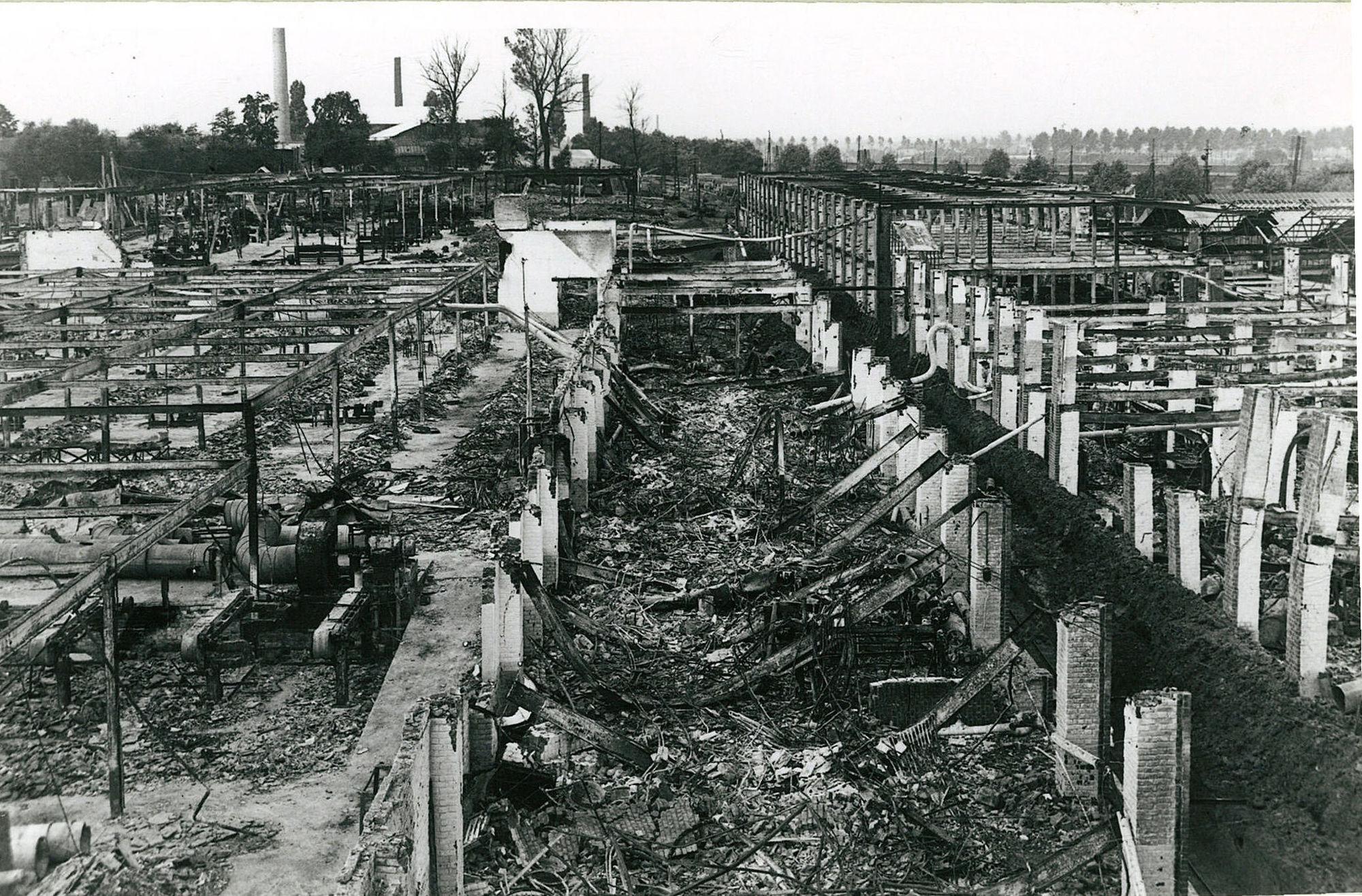 De werkhuizen van de firma De Coene in 1940