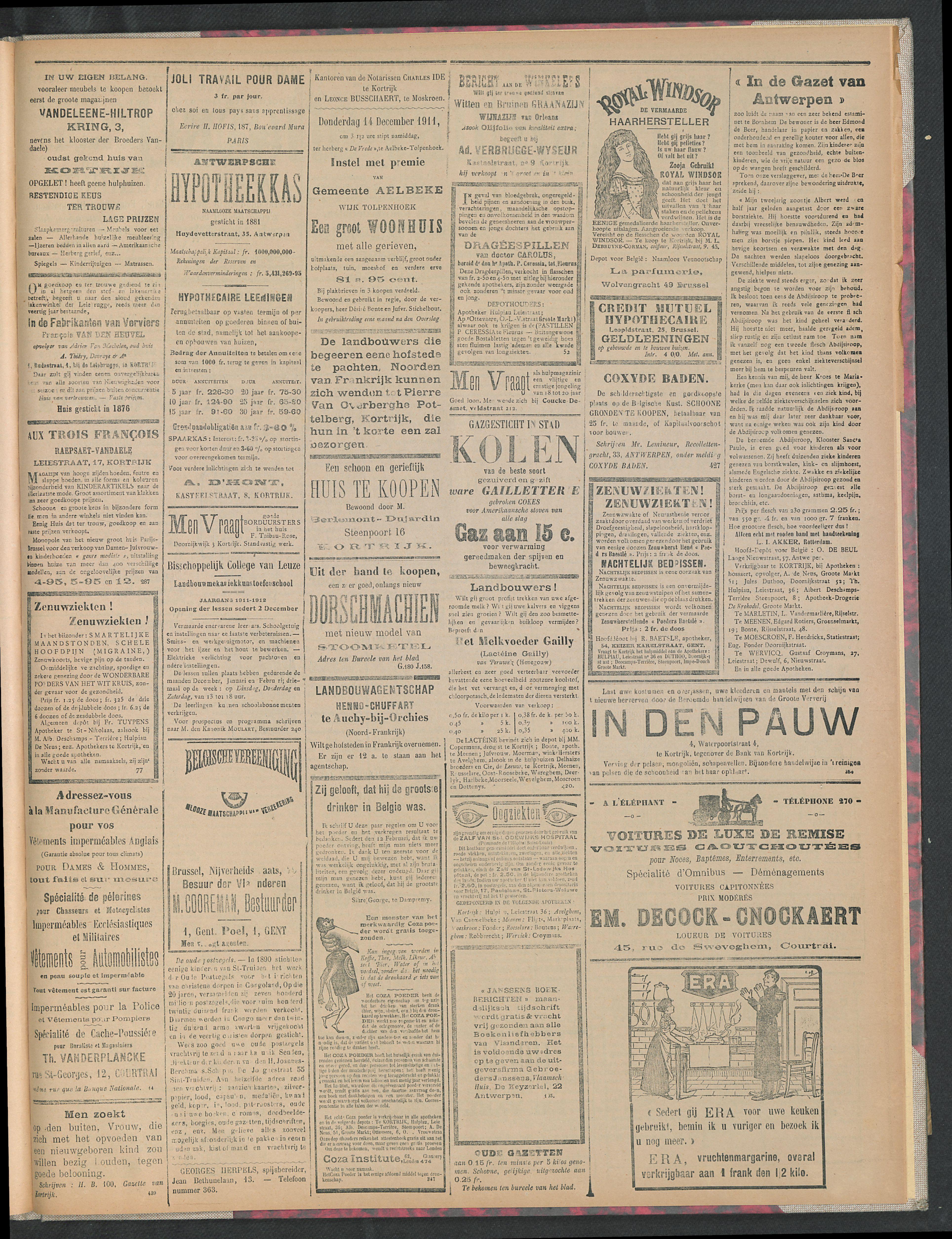 Gazette Van Kortrijk 1911-12-14 p3
