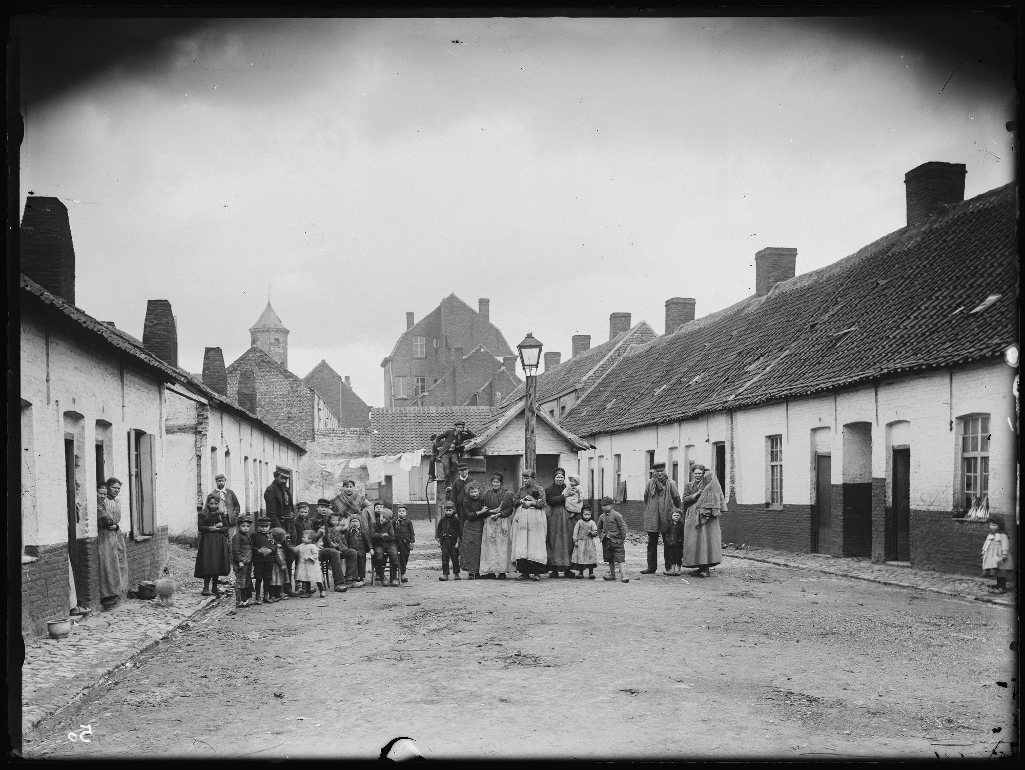 Beluik nabij de Vlamingenstraat voor 1895