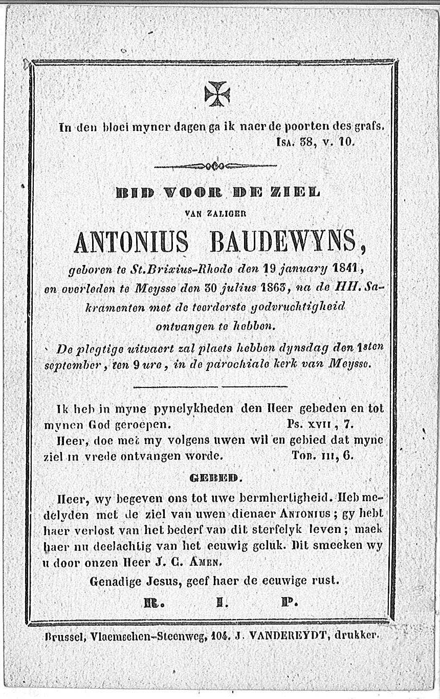 Antonius Baudewyns
