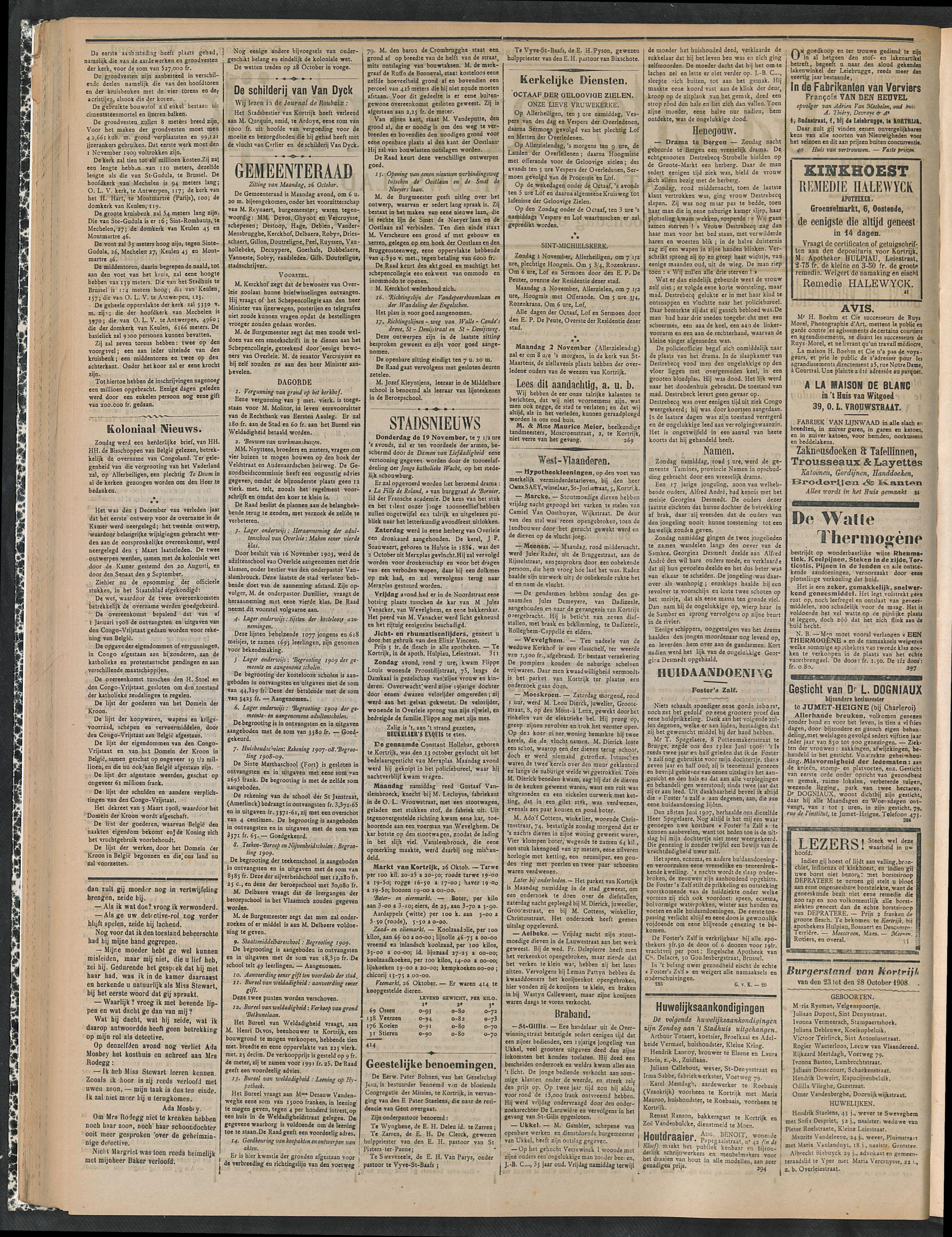 Gazette Van Kortrijk 1908-10-29 p2
