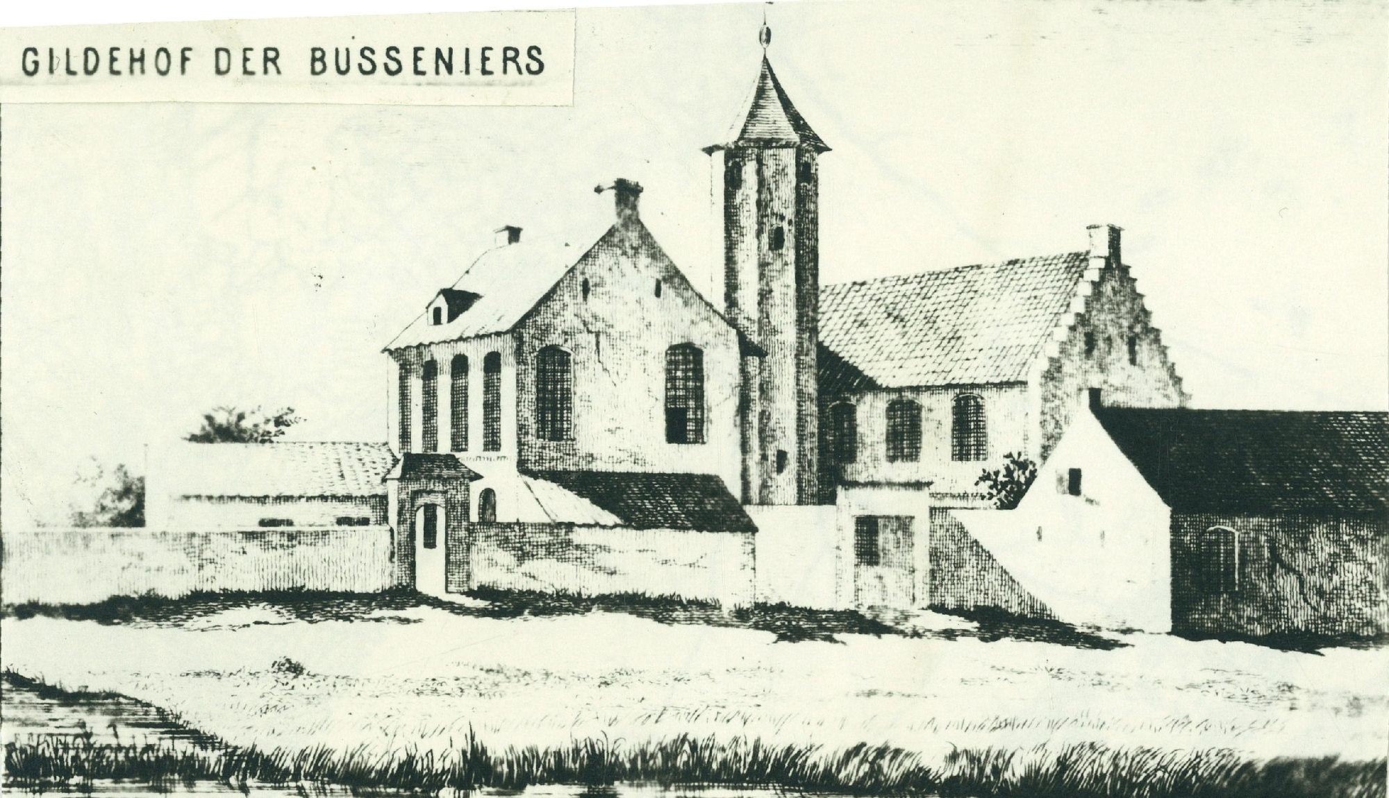Gildenhof der busseniers in de Wijngaardstraat - St. Janslaan