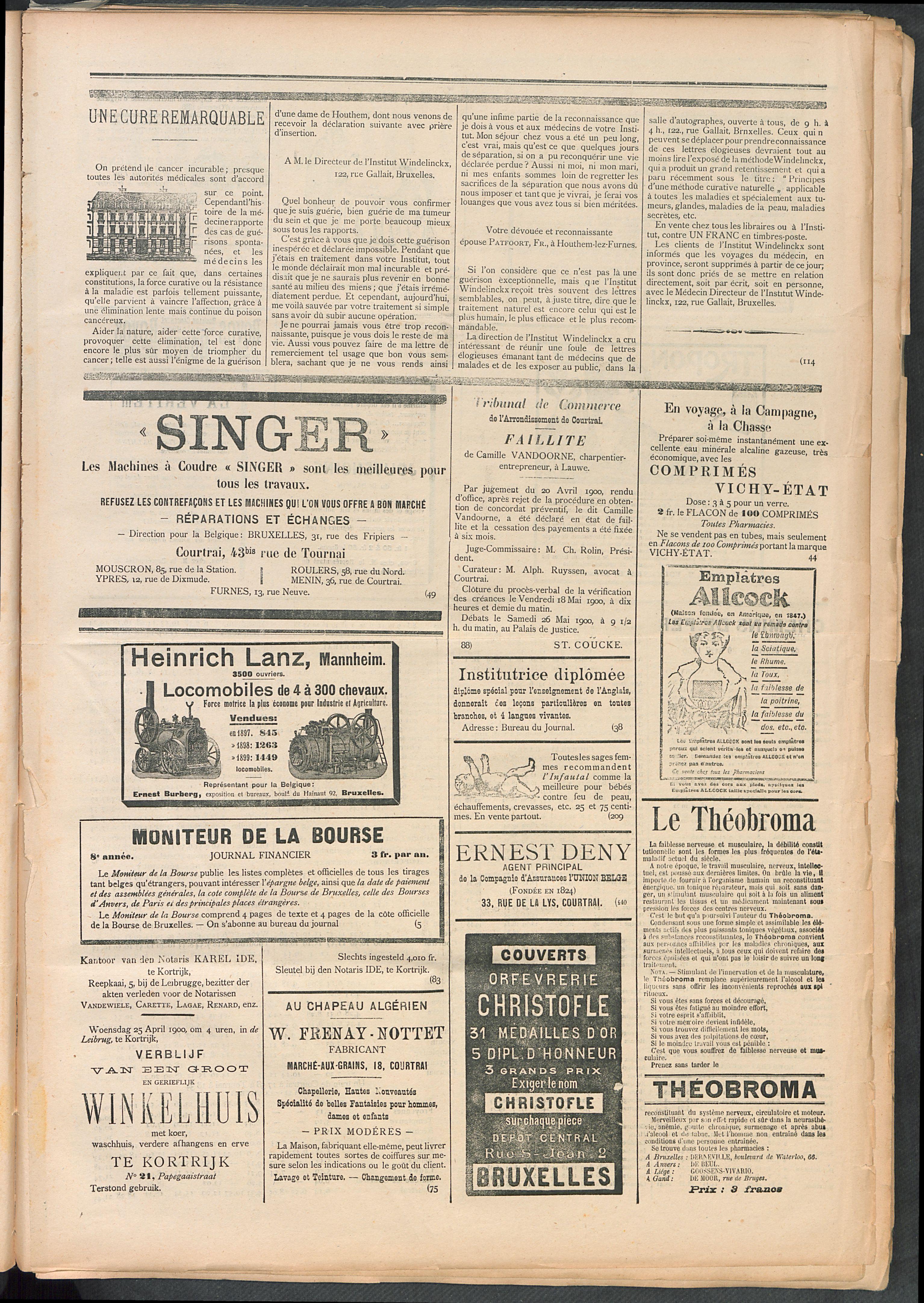 L'echo De Courtrai 1900-04-22 p5