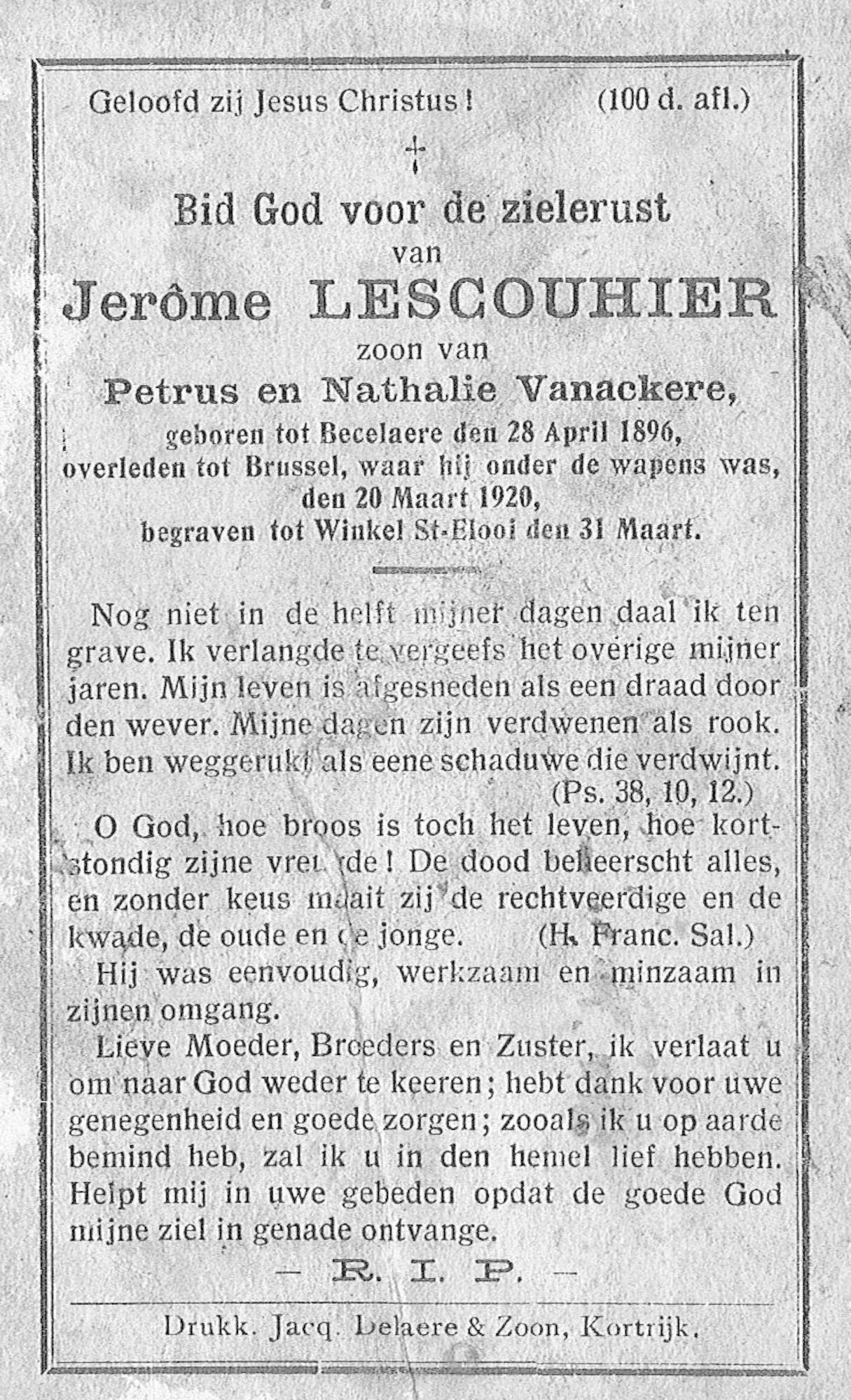 Lescouhier Jerôme