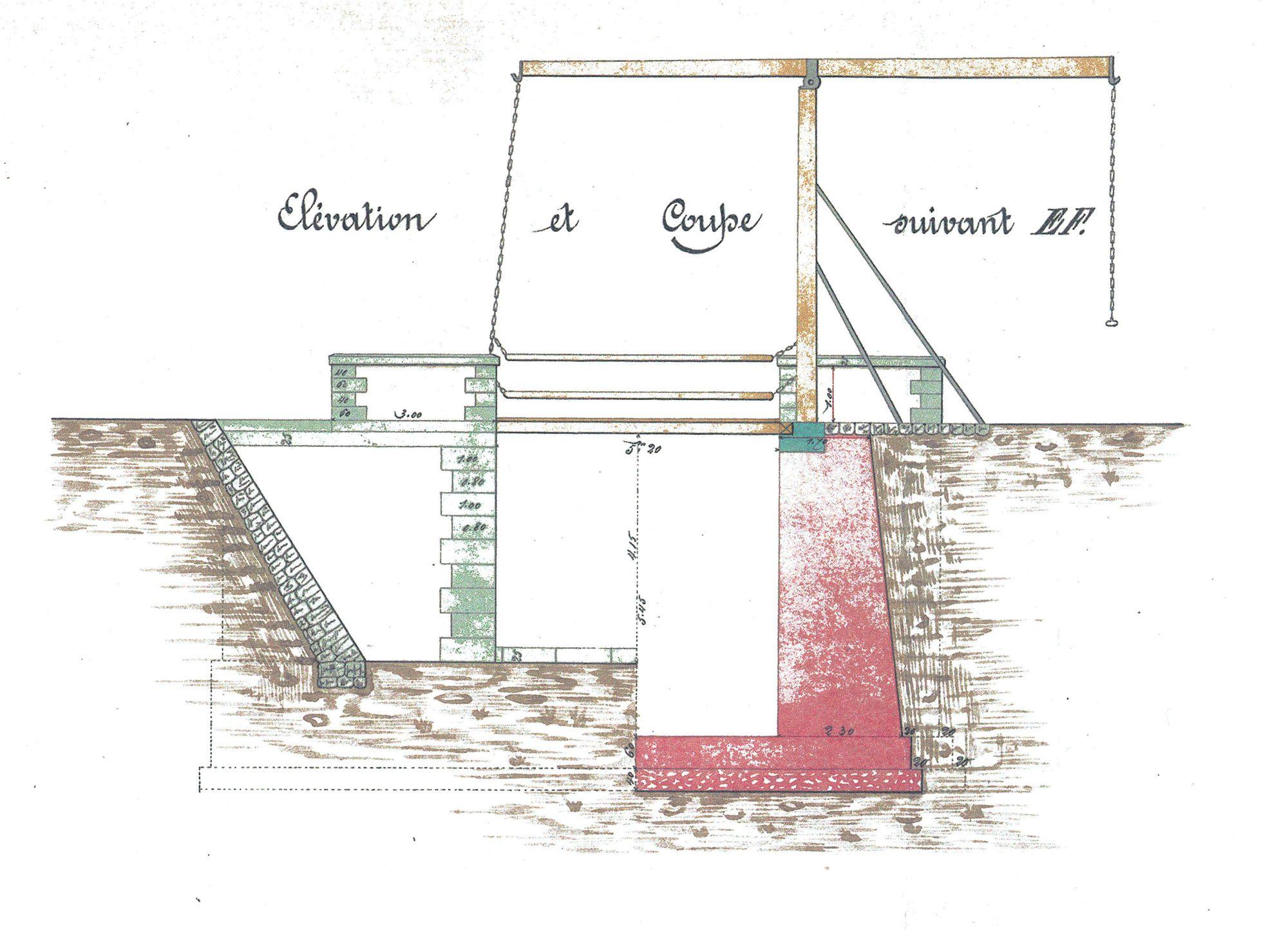 Ophaalbrug kanaal Bossuit.- Kortrijk