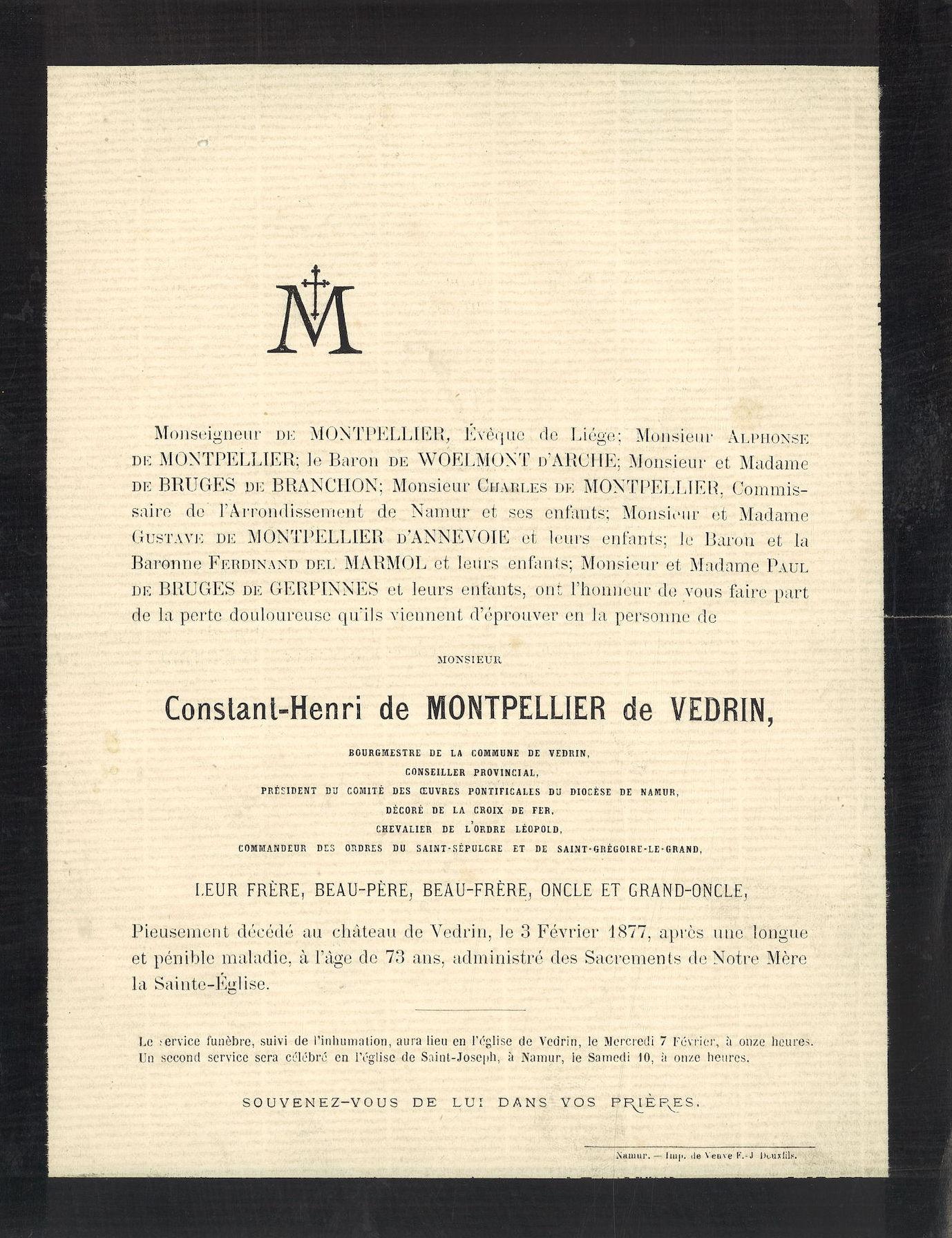 Constant-Henri de Montpellier de Vedrin