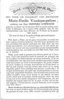 Marie-Emilie Vandepaepeliere