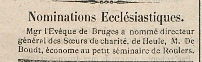 Nominations Ecclesiastiques