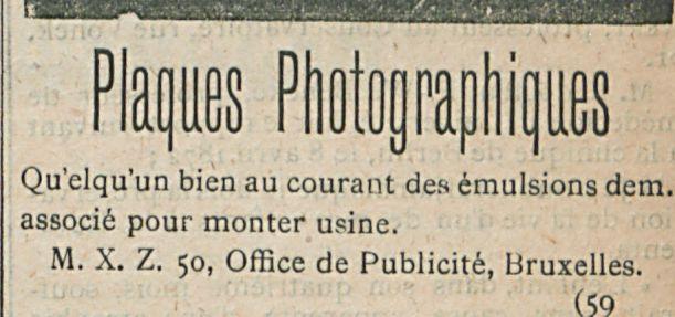 Plaques Photognaphiques