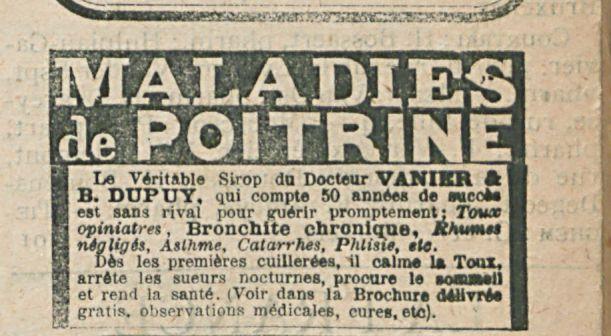 MALADIES DE POITRINE