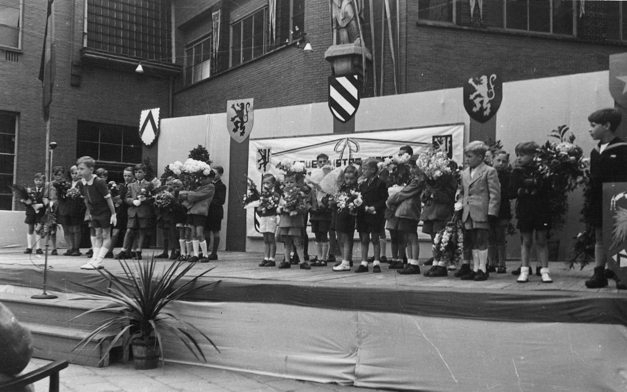 Sint-Amandscollege, jubileumfeest van de heer Geldof